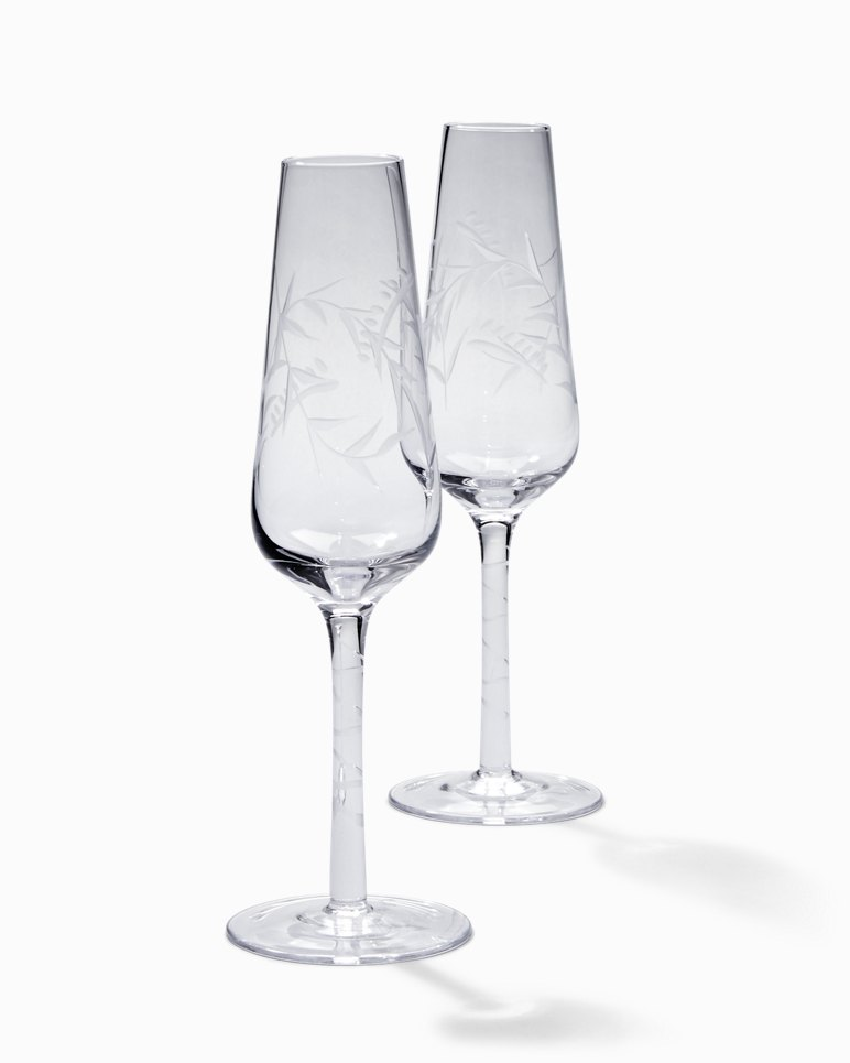 Main Image for Etched Fronds Champagne Flute Set - Set of 2