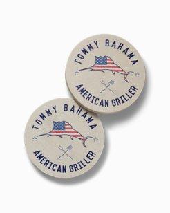 American Griller Sandstone Coasters - Set of 4