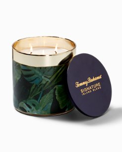Island Blend Villa Fronds Round Candle