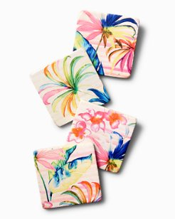 Palm Wonder Coaster Set - Set of 4