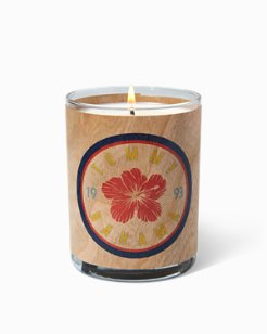 Hibiscus Beer Label Candle