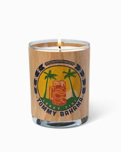 Leaky Tiki Beer Label Candle