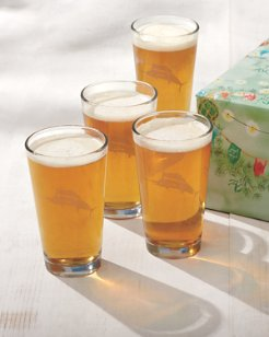 Marlin Beer Glasses - Set of 4 Gift-Wrapped