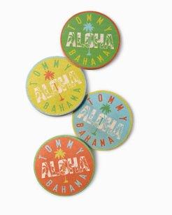 Aloha Sandstone Coasters - Set of 4