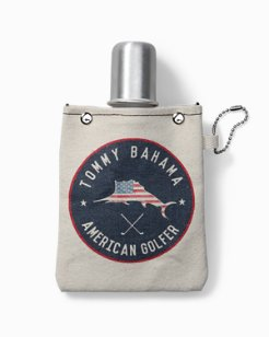 American Golfer Canvas Flask