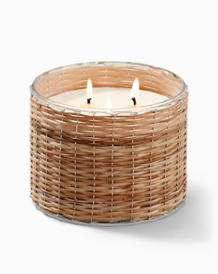 Treasure Cove Wicker Candle