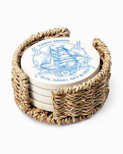 Sail Away Coasters - Set of 4