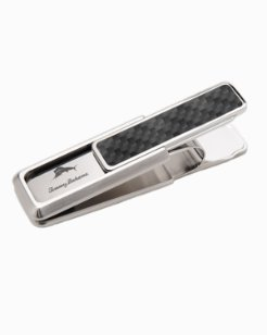 Stainless Carbon Money Clip