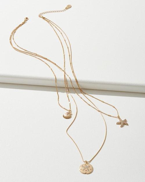 Sealife Triple-Strand Necklace