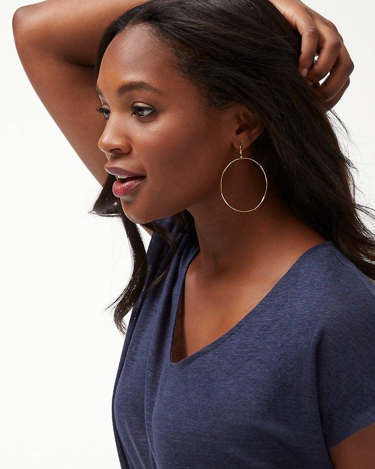 Main Image for Wide Gold Hoop Earrings