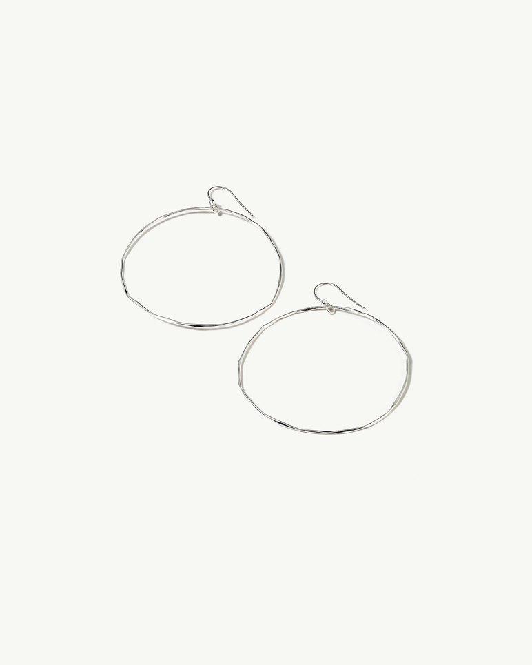 Wide Silver Hoop Earrings | Tuggl