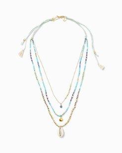 Chan Luu® Triple-Strand Cowrie Necklace