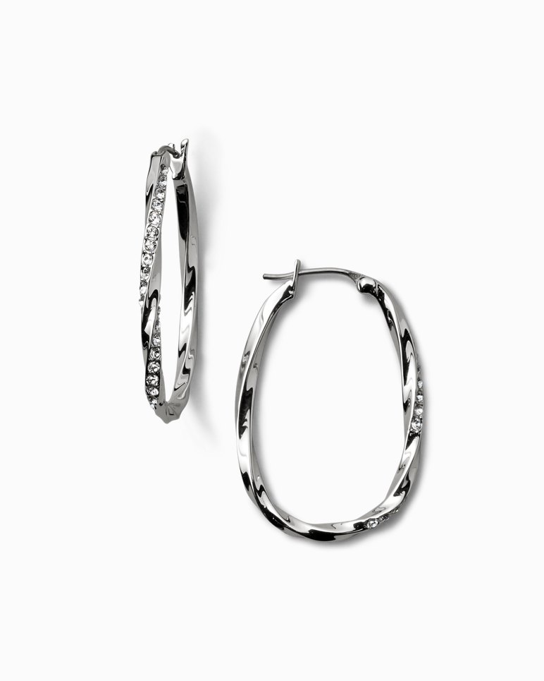 Main Image for Twisted Pavé Hoop Earrings With Swarovski® Crystals