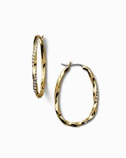 Twisted Pavé Hoop Earrings With Swarovski® Crystals