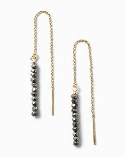 Pyrite Crystal Drop Earrings