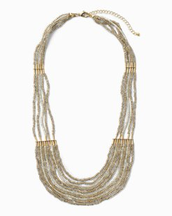 Sparkle Beaded Statement Necklace