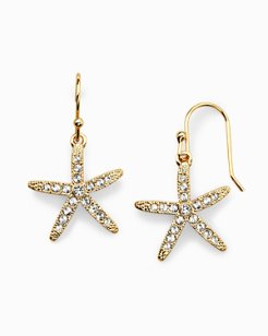Swarovski® Crystal Starfish Earrings