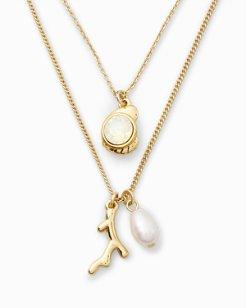 Swarovski® Crystal Double Chain Sea Charm Necklace