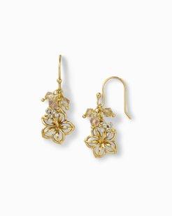 Swarovski Crystal Hibiscus Drop Earrings