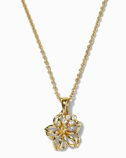 Swarovski® Crystal Hibiscus Necklace