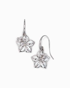 Swarovski® Crystal Hibiscus Earrings