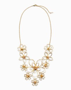 Golden Flower Statement Necklace