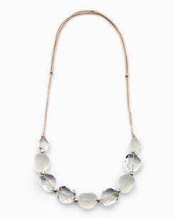 Clear Misty Single Strand Necklace