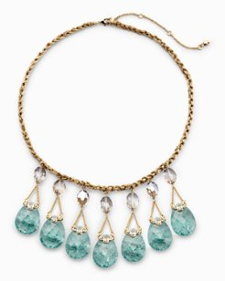 Dusty Aqua Statement Necklace