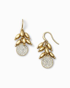 Pavé Disc Earrings