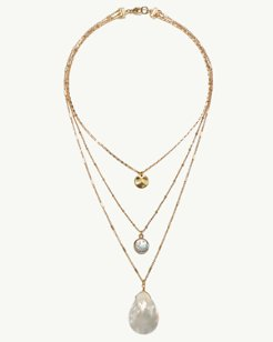 Perla Triple Strand Necklace