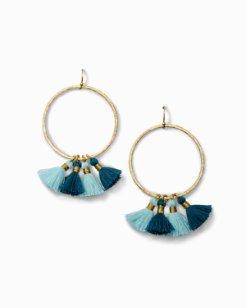 Tropic Tassel Hoop Earrings