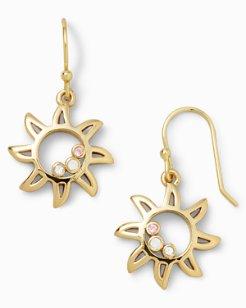 Swarovski® Crystal Sun Drop Earrings
