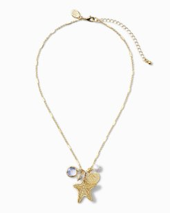 Seashell & Pearl Charm Necklace