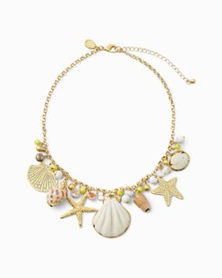 Sea Life Charm Statement Necklace