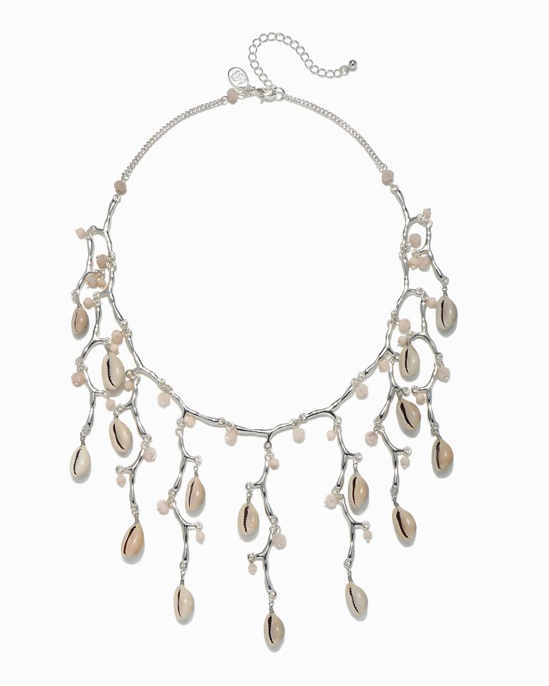 Main Image for Silver Coral & Cowrie Necklace