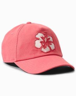 Hibiscus Appliqué Cap