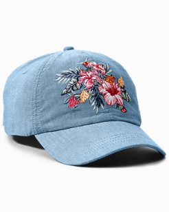 Floral Chambray Cap