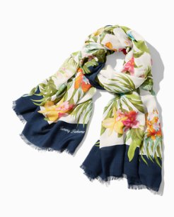 Madeira Blooms Oblong Scarf