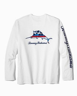 Palm Stripes Billboard Marlin Lux Long-Sleeve T-Shirt