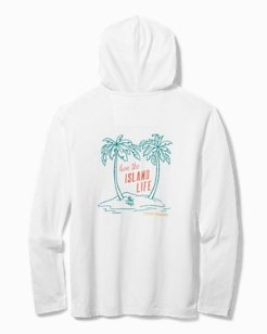 Palm Tree Paradise Lux Hooded Shirt