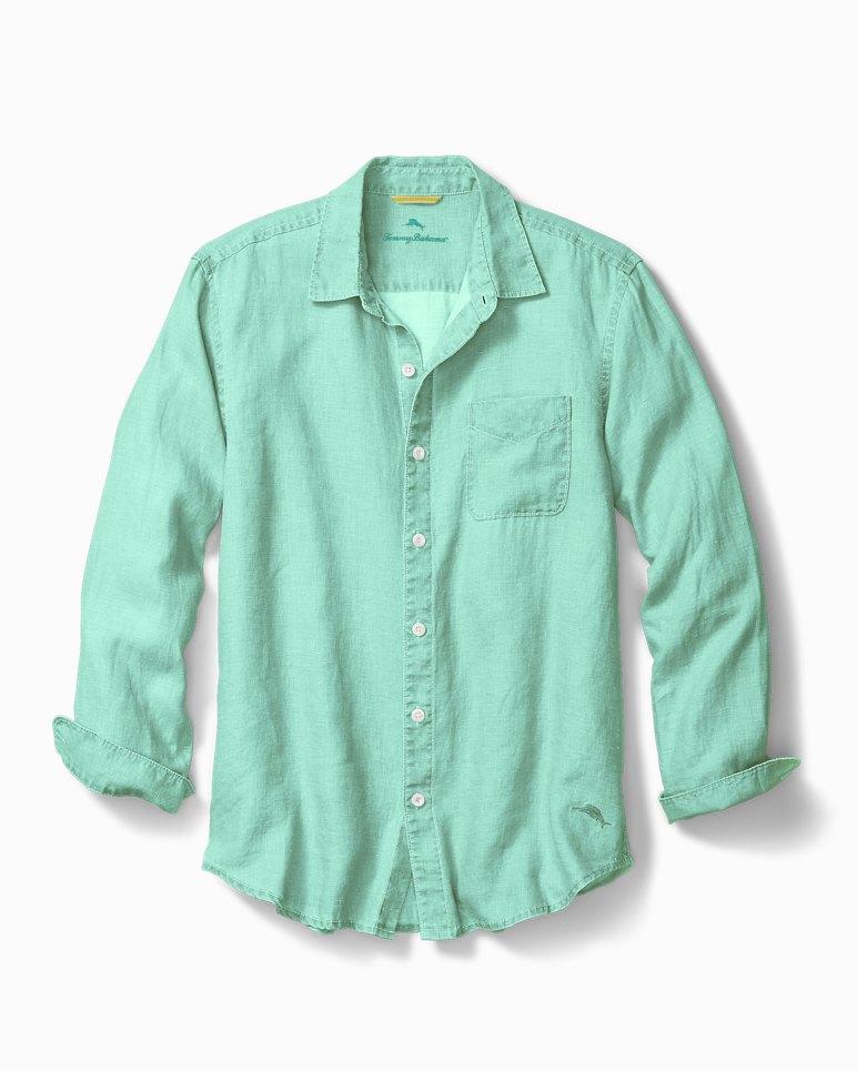 Sea Glass Breezer Linen Shirt | Tuggl