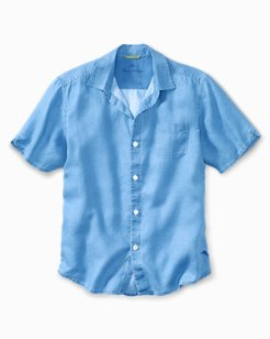 Sea Glass Breezer Linen Camp Shirt