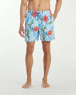 Naples Fira Floral 6-Inch Swim Trunks