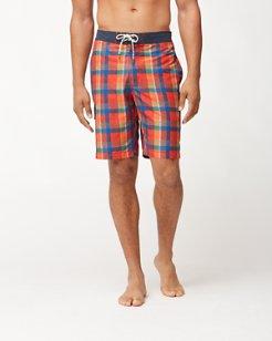Baja Kupuna Plaid 9-Inch Board Shorts