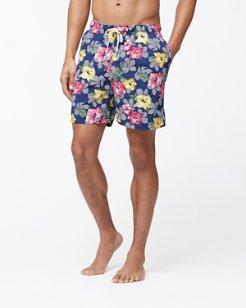 Naples Hibiscus High Line 6-Inch Swim Trunks
