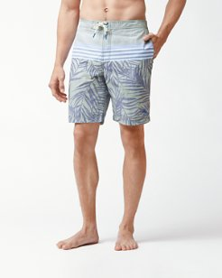 Baja Fronds And Stripes 9-Inch Board Shorts