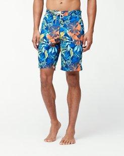 Baja Hibiscus Beach 9-Inch Board Shorts