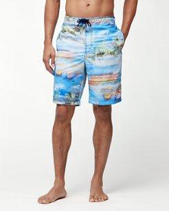 Baja Electric Beach 9-Inch Board Shorts
