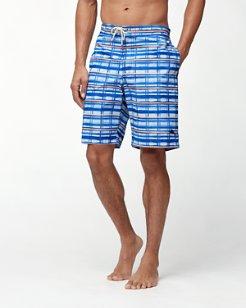 Baja Water Crest Plaid 9-Inch Board Shorts