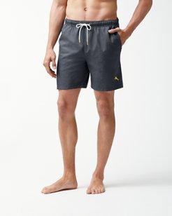 Naples Midnight Monstera 6-Inch Swim Trunks